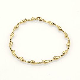 Tiffany & Co. Peretti Teardrop 18k Yellow Gold Chasing Link Bracelet