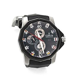Corum Admiral's Cup Automatic Date Tides Titanium Rubber Men's Watch01.0005