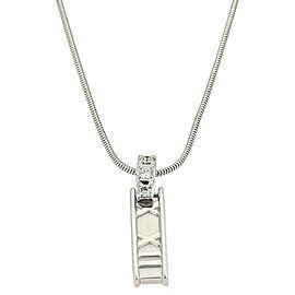 Tiffany & Co. White Gold Roman Atlas Diamond Numeral Pendant Necklace