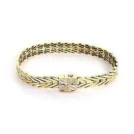 John Hardy Bamboo Collection Diamond 18k Gold Loop Link Bracelet Ret: 6,600
