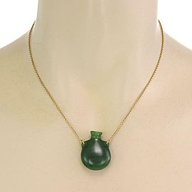 Tiffany & Co. Elsa Peretti Bottle green jade pendant on an 18k gold chain