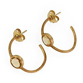 Marco Bicego Jaipur Citrine 18k Yellow Gold Half Hoop Earrings