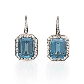 Pasquale Bruni 5.50ct Diamond & Tourmaline 18k White Gold Dangle Earrings