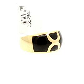 14K Yellow Gold Onyx Ladies Ring Size 7.5