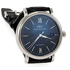IWC Schaffausen Portofino Automatic Date Leather Band Men's Watch IW356502