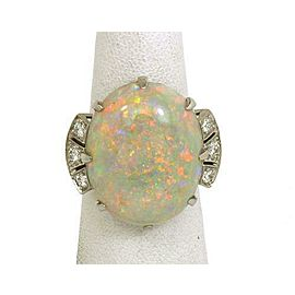 Tiffany & Co. Diamonds Platinum 16.49ct Opal Cocktail Ring w/Box & Appraisal
