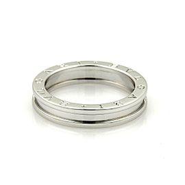 Bvlgari Bulgari B Zero-1 Single 18k White Gold 5mm Band Ring Size EU 47