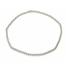 Cartier 3.00ct Diamond 18k White Gold Beaded Tennis Necklace