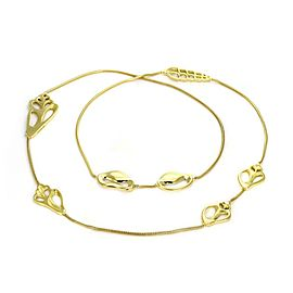 """Vintage Tiffany & Co 18k Gold Assorted Shell Station Snake Chain Necklace 29"""" L"""