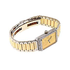 Corum Vintage Swiss 999 Gold Ingot Diamond Wind Ladies Watch