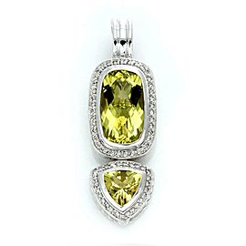 David Yurman Diamond & Peridot Sterling Silver 2 Tier Pendant