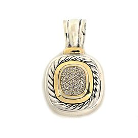 David Yurman Albion Diamond Sterling Silver 18k Gold Cable Pendant