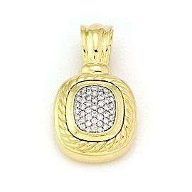David Yurman Albion 1.00ct Pave Diamond 18k Yellow Gold Pendant