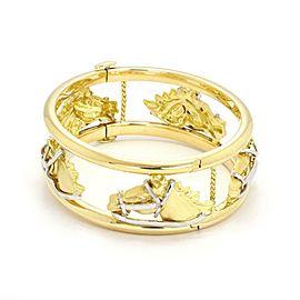 Roberto Coin Diamond 18k Two Tone Gold Horse Bangle Bracelet