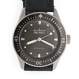 Blancpain Fifty Fathoms Bathyscaphe Automatic Date Black Dial Watch Box