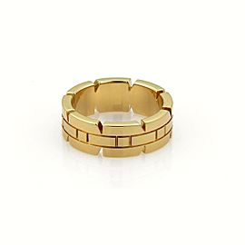 Cartier Tank Francaise 18k Yellow Gold 6mm Band Ring Size EU 48-US 4.5