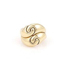 18K Yellow Gold Marina B. Spiral Designer Fashion Ring