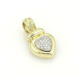 David Yurman 18k Yellow Gold & Pave Diamonds Heart Pendant