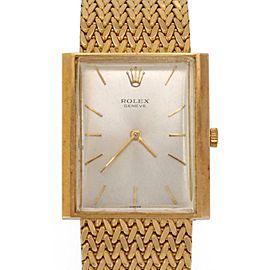 Rolex Vintage 18k Yellow Gold Hand Wind Men's Rectangle Wrist Watch