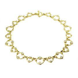 Judith Ripka 2.80ct Diamond 18k Yellow Gold Fancy Circle Link Necklace