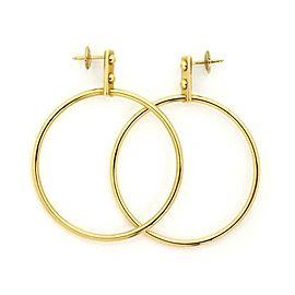 Louis Vuitton 18k Yellow Gold Large Fancy Hoop Earrings