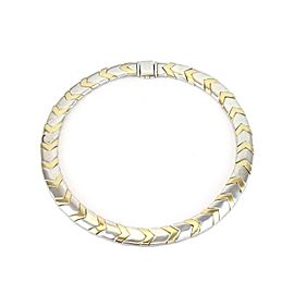 Tiffany & Co. Chevron 18k Yellow Gold Sterling 11mm Wide Collar Necklace