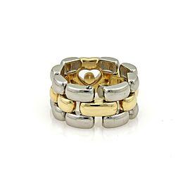 Chopard Happy Diamond 18k Gold & Steel Heart Panther Flex Chain Band