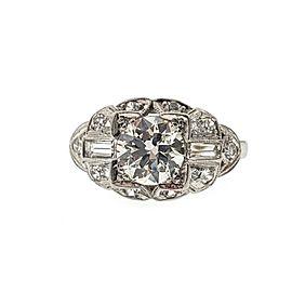 Art Deco 1.30ct Diamond Diamond Milgrain Floral Ring Size 4.75