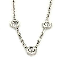 Bvlgari Bulgari Reversible Diamond & Onyx 3 Circle 18k Gold Necklace