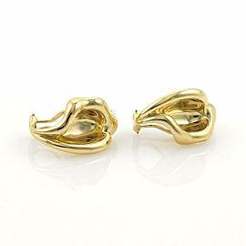 Tiffany & Co. Elsa Peretti 18k Yellow Gold Curved Leaf Clip On Earrings