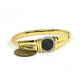 Sapphire Vintage Silver Coin 14k Yellow Gold Bracelet