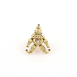 Chopard 18K Yellow Gold Happy Diamonds Clown Pin / Brooch