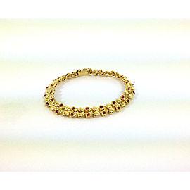 J. Roca 2.36ct Diamond & Ruby 18k Yellow Gold Butterfly Link Bracelet