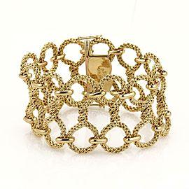 "Tiffany & Co. Germany 18k Yellow Gold 1.5"" Wide Twisted Mesh Wire Bracelet"