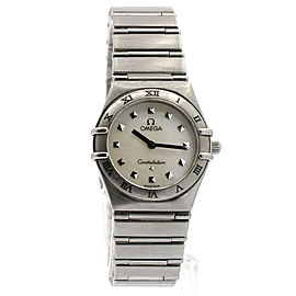 Omega Constellation My Choice White Mother of Pearl Dial Quartz Ladies Watch