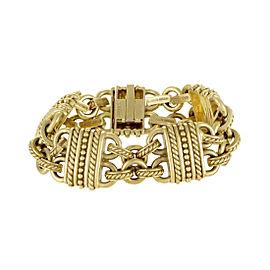 Judith Ripka 18K Yellow Gold Carved Bracelet