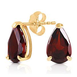 3.15 CTW 14K Solid Gold Stud Earrings Natural Garnet