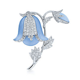 Kwiat 18k White Gold Blue Bell Pin