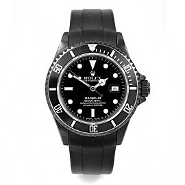 Rolex Seadweller PVD on Rubber Strap 40mm Watch