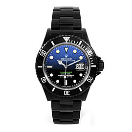 Rolex Deepblue Submariner 16610 DLC-PVD 40mm Men's Watch