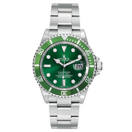 Rolex Submariner 16610 Stainless Steel Custom Green Dial 40mm Mens Watch