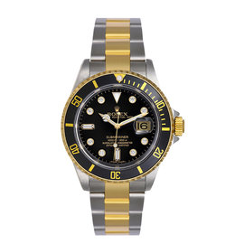 Rolex Submariner 16613 Stainless Steel & Yellow Gold Custom Diamond Automatic 40mm Mens Watch