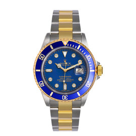 Rolex Submariner 16613 LD Stainless Steel & Yellow Gold Custom Diamond Automatic 40mm Mens Watch