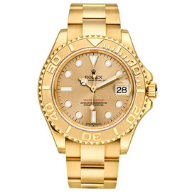 Rolex Yacht-Master 16628 18K Yellow Gold Champagne 40mm Mens Watch