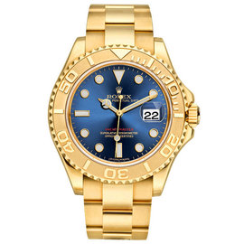 Rolex Yacht-Master 16628 18K Yellow Gold Blue 40mm Mens Watch