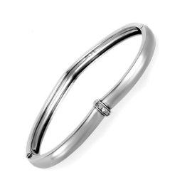 Piaget 18K White Gold and 0.10ct Diamond Bangle Bracelet