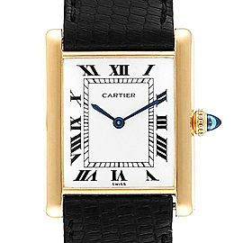 Cartier Tank Classic Paris Yellow Gold Ultra Thin Mechanical Mens Watch