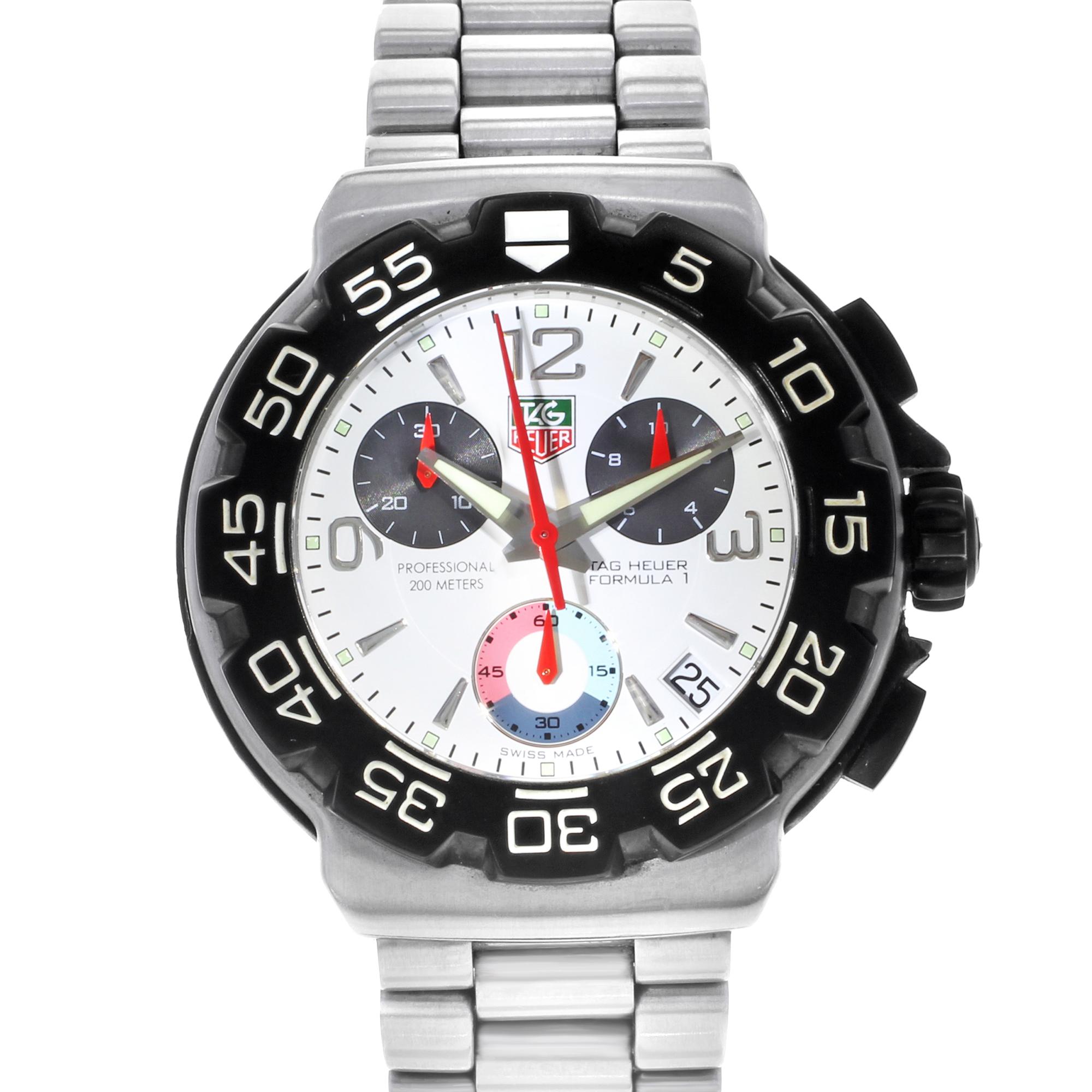 Tag Formula 1 Watch >> Tag Heuer Formula 1 Cac1111 Ba0850 41mm Mens Watch
