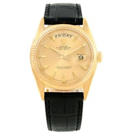 Rolex Day-Date 1803 18K Yellow Gold & Champagne Dial Vintage 36mm Mens Watch