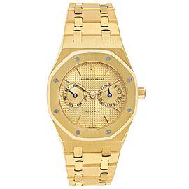 Audemars Piguet Royal Oak Yellow Gold Day Date Mens Watch 25572BA